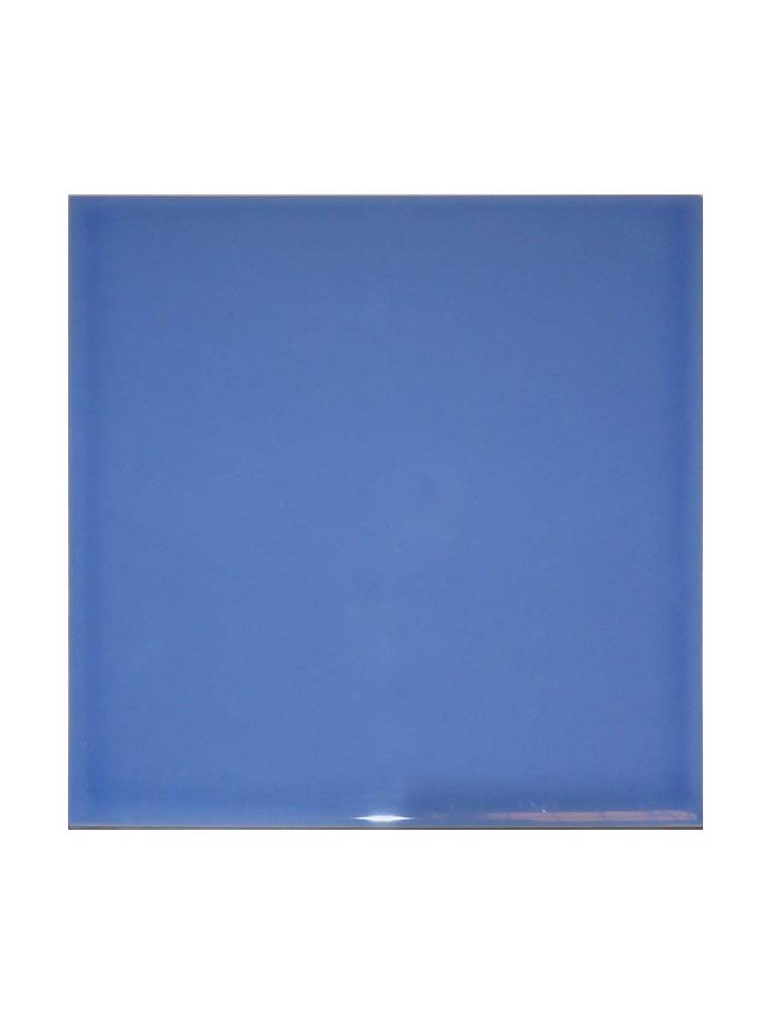 Carrelage mural bleu brillant 20x20 indico mayolica lot 1 m2 for Carrelage mural bleu