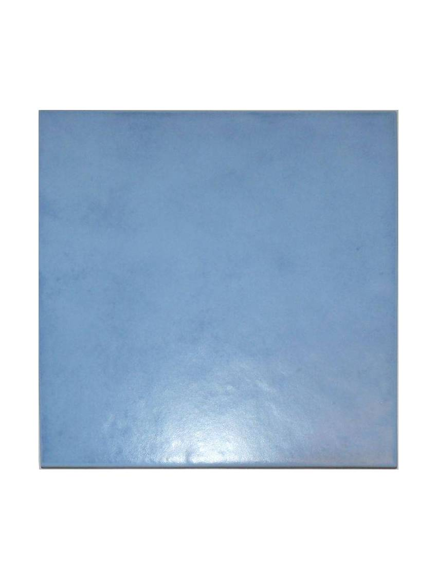 Carrelage mural bleu clair 20x20 ebro mayolica lot 1 m2 for Carrelage exterieur bleu