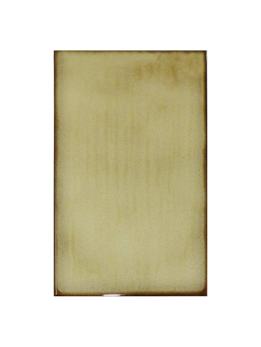 Faience beige bords marron 10x20 emola gres paquet 1 m2 for Carrelage exterieur 10x20