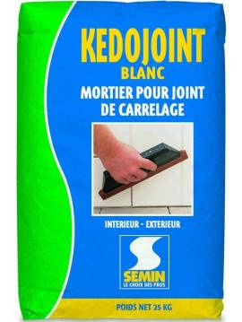 mortier joint carrelage kedojoint blanc semin sac 25 kg. Black Bedroom Furniture Sets. Home Design Ideas