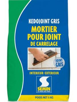 mortier joint carrelage kedojoint blanc semin sac 5 kg. Black Bedroom Furniture Sets. Home Design Ideas