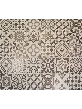 Carrelage imitation ciment gris blanc 20x20 Antigua gris - Paquet de 1 m2