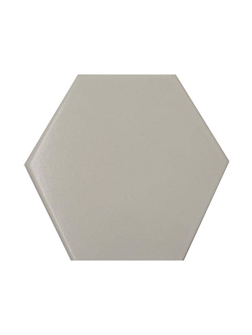 Carrelage hexagonal blanc 13 2x15 2 tomette la piece for Carrelage hexagonal blanc
