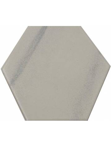 Carrelage hexagonal blanc gris 13 2x15 2 tomette la piece for Carrelage blanc hexagonal