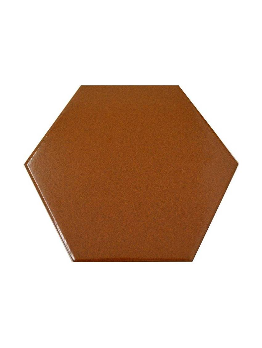 Carrelage hexagonal marron 13 2x15 2 tomette la piece Carrelage orange