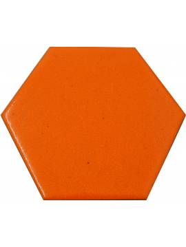 Carrelage hexagonal orange 13,2x15,2 Tomette - La piece