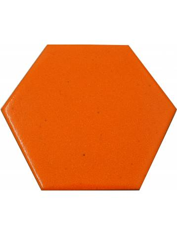 Carrelage hexagonal orange 13 2x15 2 tomette la piece for Carrelage orange sol
