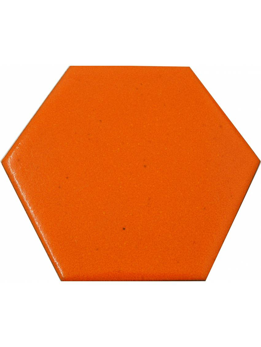 Carrelage hexagonal orange 13 2x15 2 tomette la piece - Carrelage hexagonal sol ...