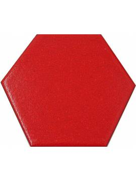 Carrelage hexagonal rouge 13,2x15,2 Tomette - La piece