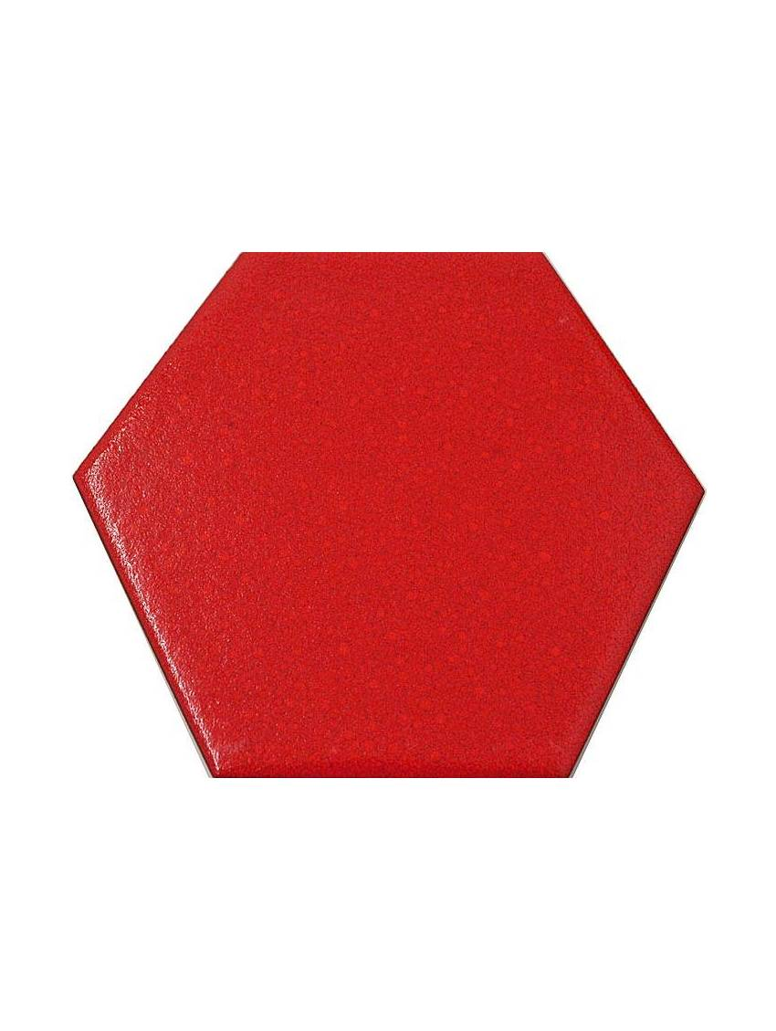 Carrelage hexagonal rouge 13 2x15 2 tomette la piece for Carrelage rouge