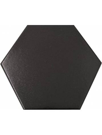 Carrelage hexagonal noir 13 2x15 2 tomette la piece for Carrelage hexagonal noir