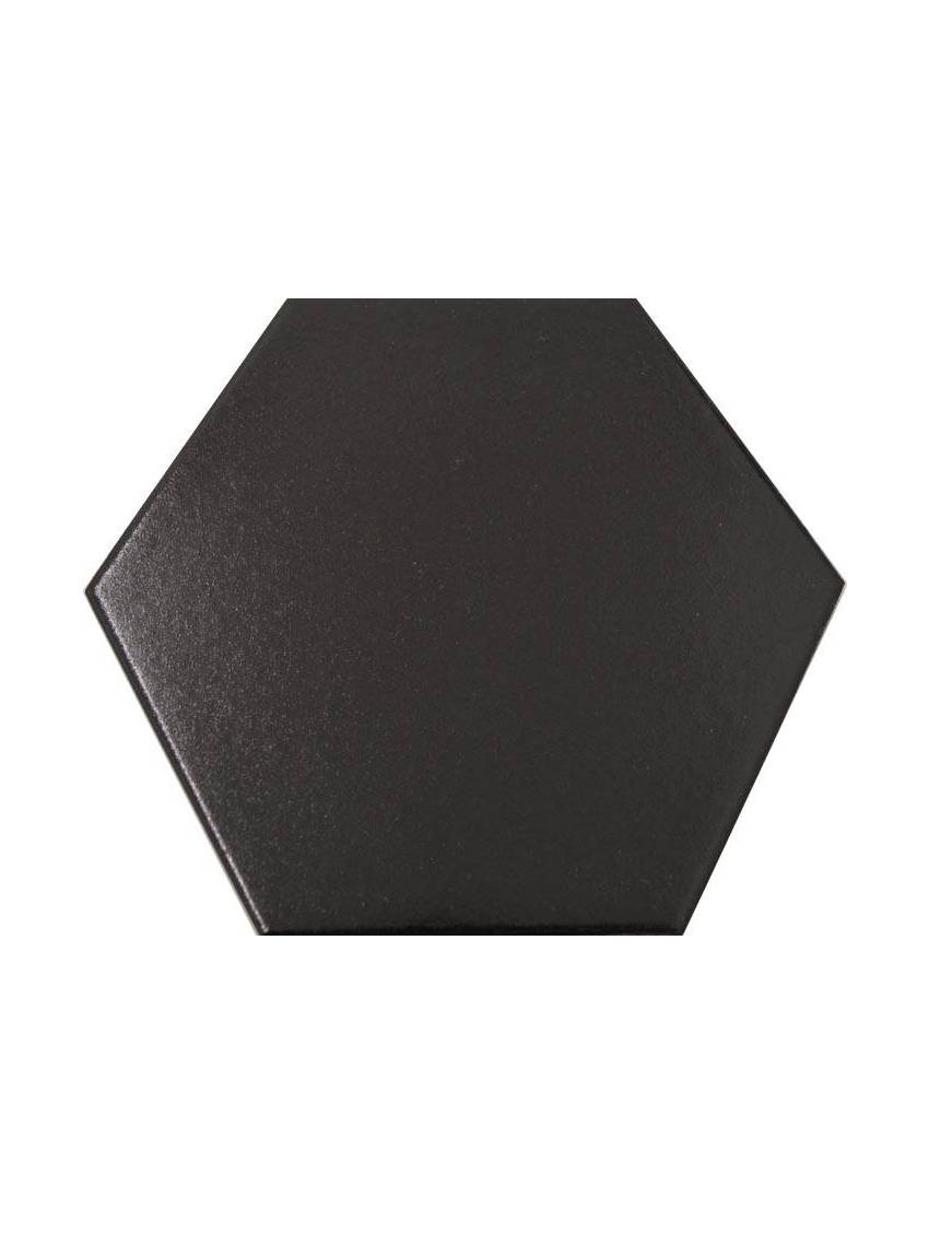 Carrelage hexagonal noir 13 2x15 2 tomette la piece - Carrelage hexagonal noir ...