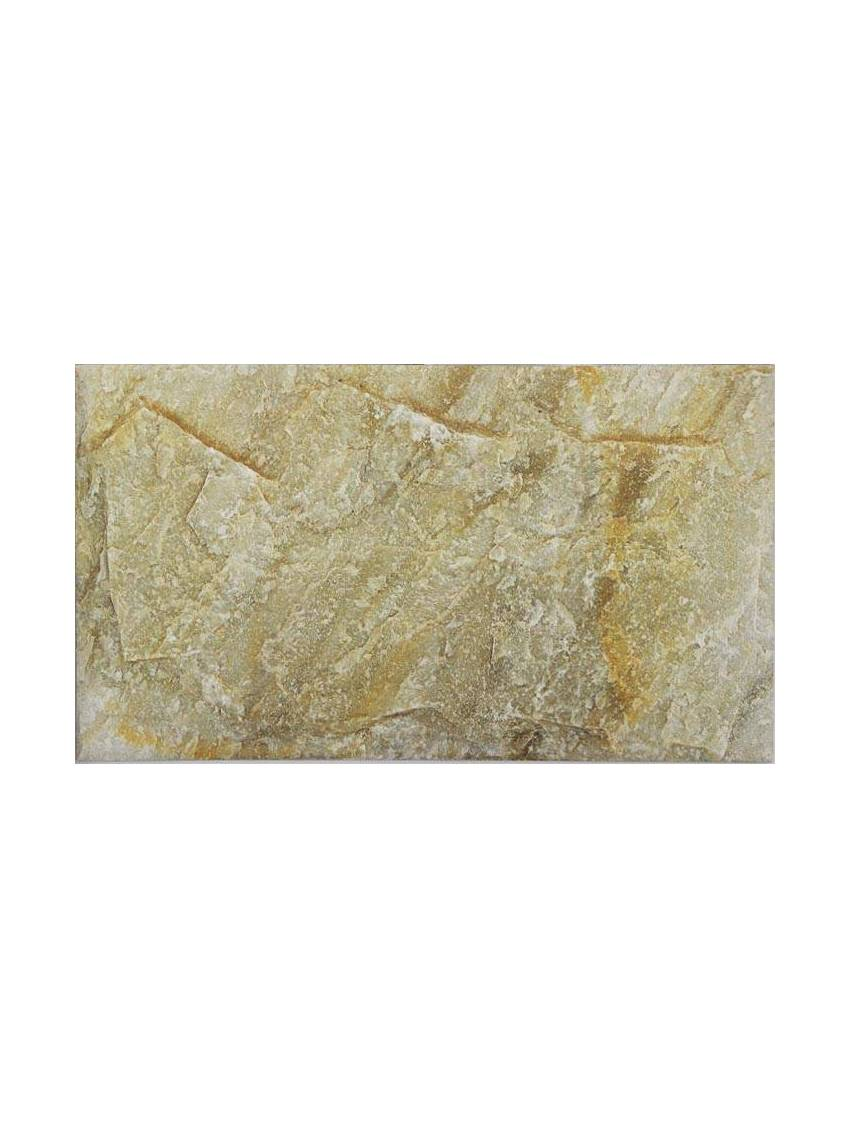 Carrelage imitation pierre ocre 26 3x47 5 paquet 1 m2 - Carrelage mural imitation pierre ...