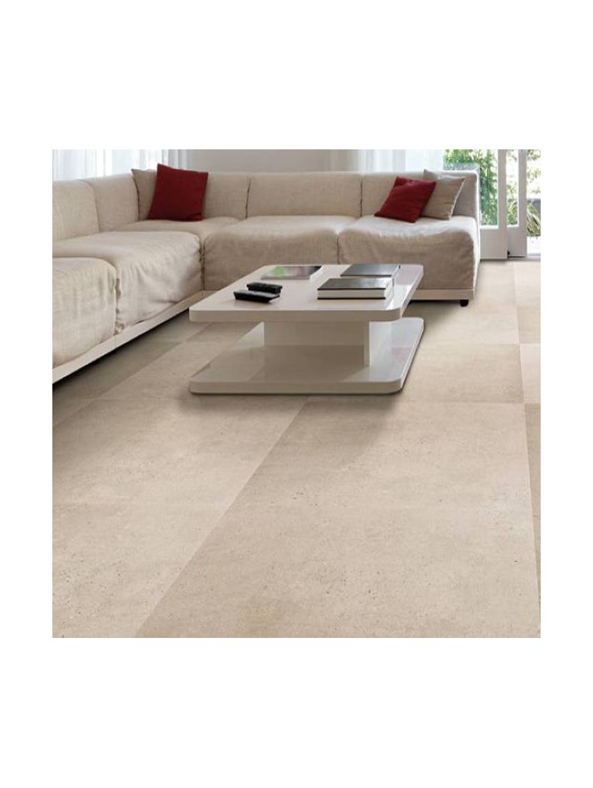 Carrelage imitation beton beige 60x60 cerlat paquet 1 08 m2 for Carrelage beige 60x60