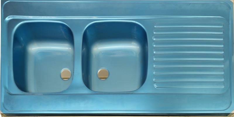 Evier Inox Rectangulaire Deux Bacs Un Egouttoir A Poser 160x60 Cm