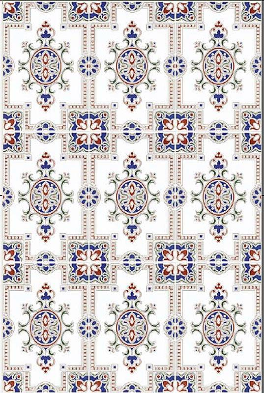 carrelage andalou torello azul x cm faence mural au style oriental mauresque ou zellige carte. Black Bedroom Furniture Sets. Home Design Ideas