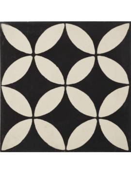 Carreau de ciment cercle noir blanc 20x20 - Paquet 72 carreaux