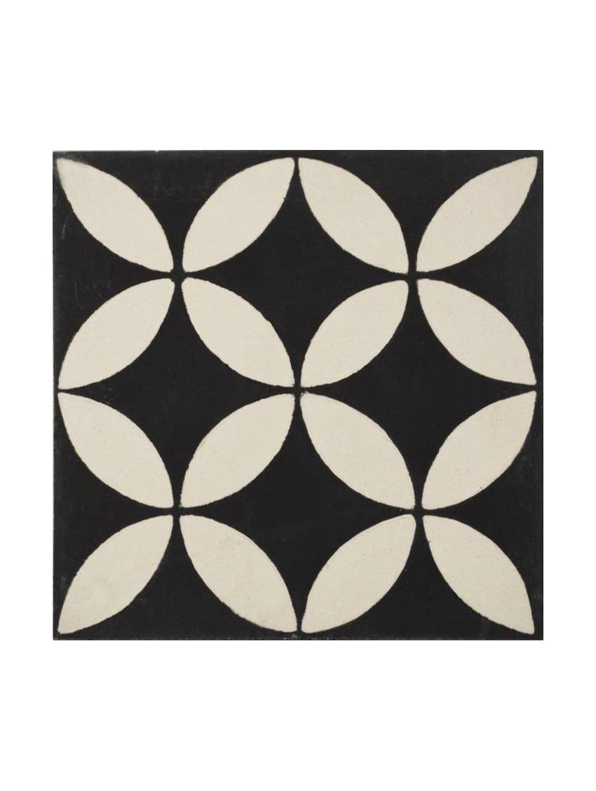 Carrelage octogonal blanc fashion designs for Carrelage cabochon noir et blanc