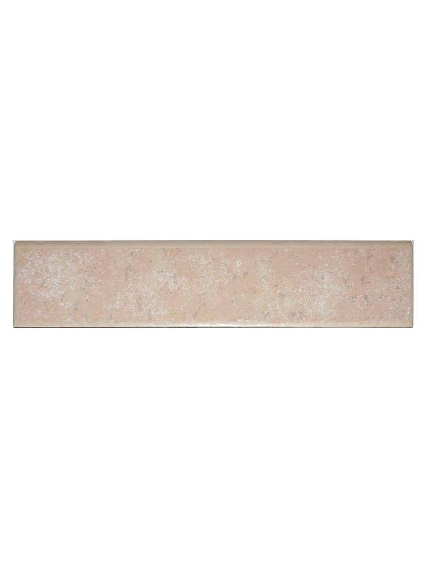 Plinthe rose gris gres emaille 8x31 5 bouzy la piece for Deco carrelage sarreguemines