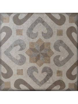 Carrelage Llanes jet décor mix 33,3x33,3 - Paquet 1 m²