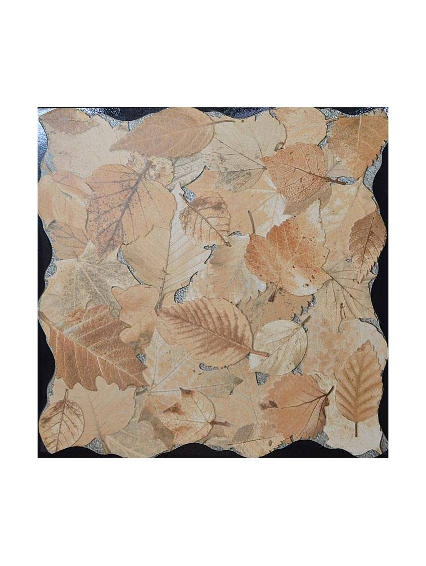 Carrelage imitation feuilles beige 45x45 paquet 1 m2 for Carrelage 45x45 beige