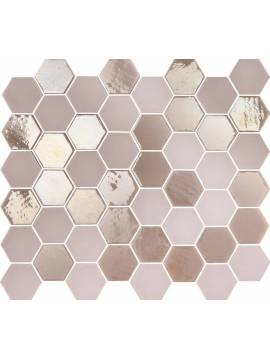 Mosaique hexagonale rose tomette 32x27 cm Togama Sixties – Paquet 1 m²