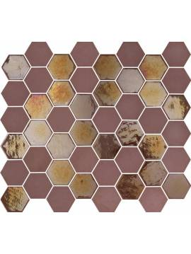 Mosaique hexagonale rouge bordeaux tomette 32x27 cm Togama Sixties – Paquet 1 m²